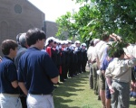 Knights, Squires and Boy Scouts Pledge Allegiance